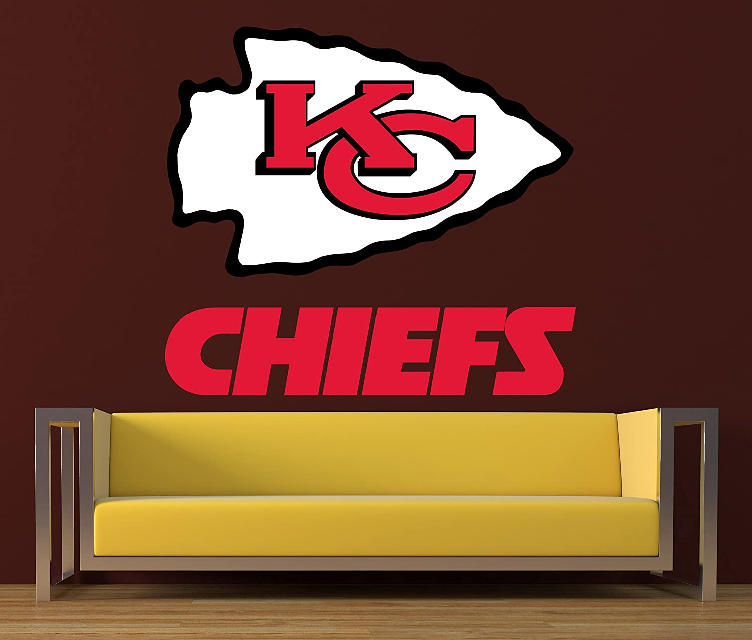 Fathead Kansas City Chiefs Logo Large Officially Licensed Nfl Removable Wall Decal Walmart Com Walmart Com