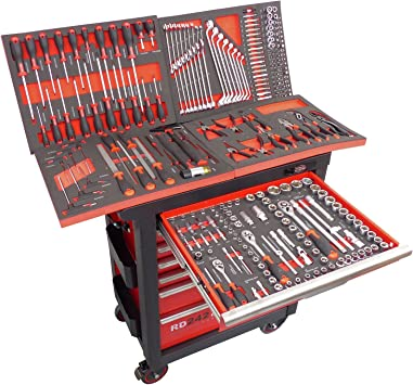 Carro de taller lleno con herramientas carro caja de herramientas caja de herramientas: Amazon.es: Bricolaje y herramientas