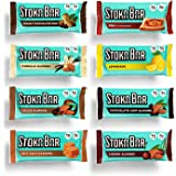 Stoka Bars| 8-Flavor Variety Pack | All Natural Energy Bar | High Protein Low Carb | Keto and Vegan Friendly | 8 Count