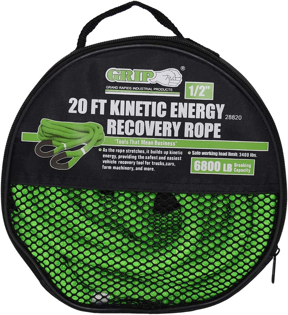 Grip 20 ft x 1//2 in Kinetic Energy Recovery Rope