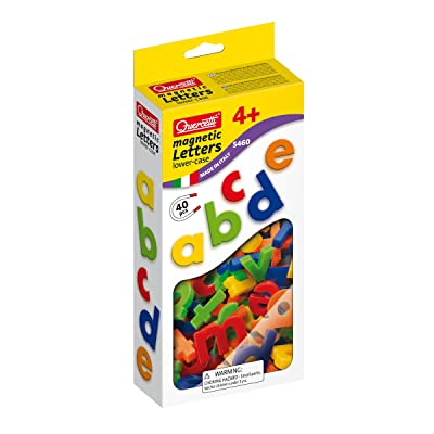 Quercetti Magnetic Lowercase Letters - 40 Piece Alphabet Magnet Set in Assorted Colors (Made in Italy): Toys & Games [5Bkhe0802334]