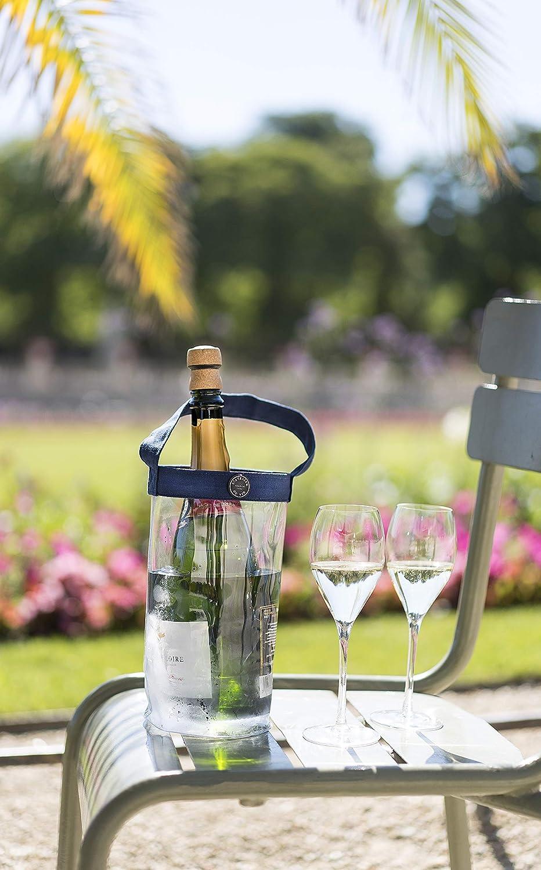 LAtelier du vin Rafra/îchisseur /à bouteille 13,5 cm x 23 cm PVC souple et Polyester Easy Fresh Crystal