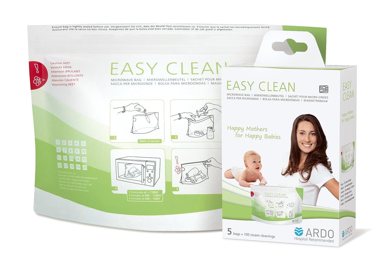 Ardo Easy Clean Mikrowellenbeutel (zur Dampfreinigung von Stillzubehör und Fläschchen) 63.00.186