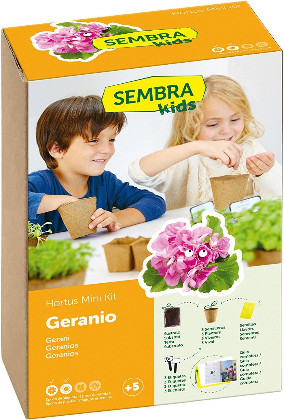 SEMBRA - juego educativo, Kit huerto Geranio
