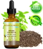 "ORGANIC CHIA SEED OIL. 100% Pure / Natural / Undiluted / Cold Pressed Carrier Oil for Skin, Hair, Lip and Nail Care. ""A remarkable and stable source of omega-3,6,9, B-vitamins and minerals."" 0.5 fl. oz -15 ml."