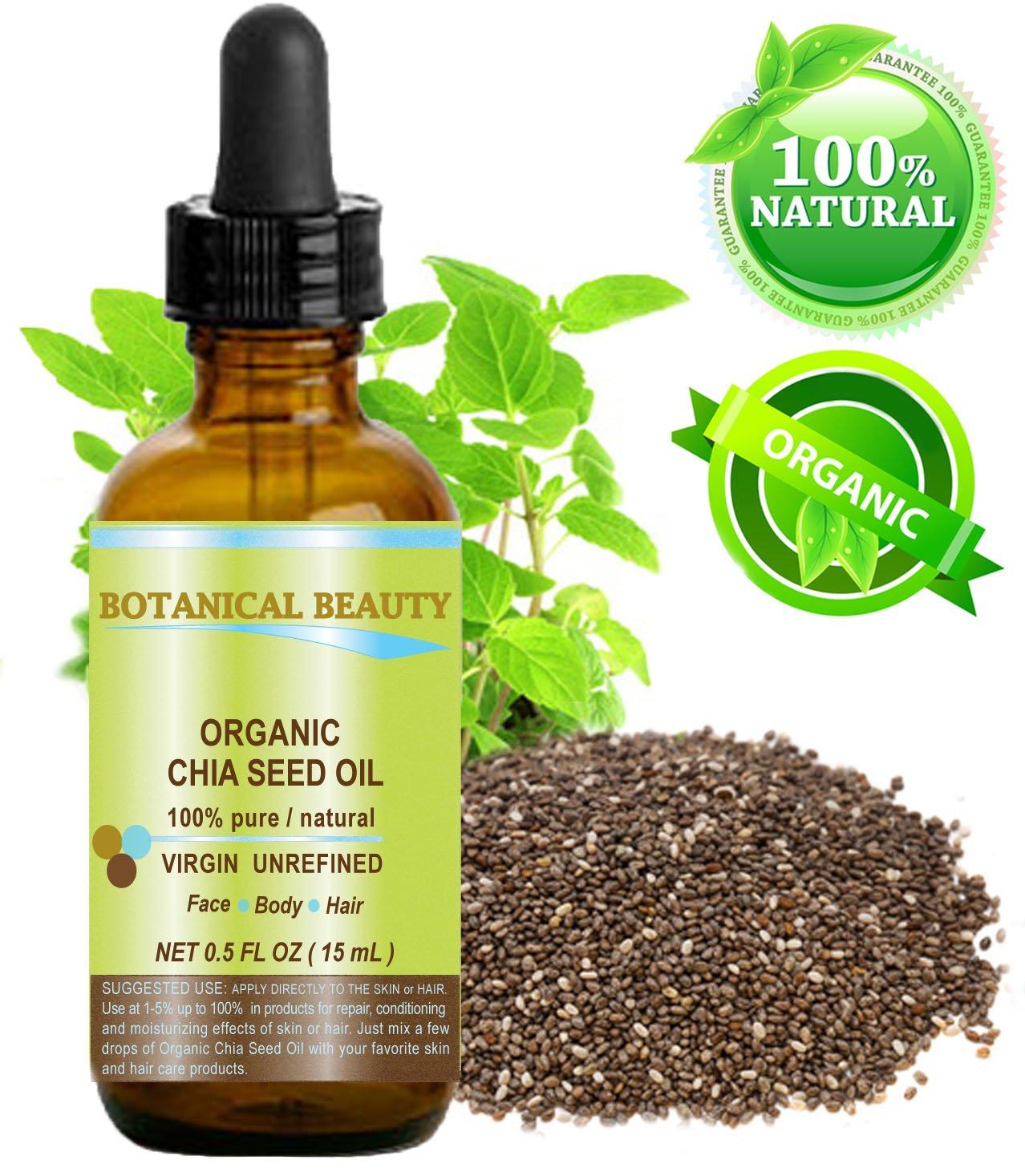 Amazon.com: Orgánico Aceite de Semillas de Chía. 100% puro ...