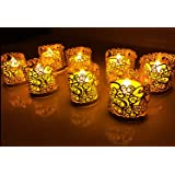 CozyT 100 PACK Tea Light Votive Wraps Paper Candle Holder Laser Cut For Decorative Wedding Party