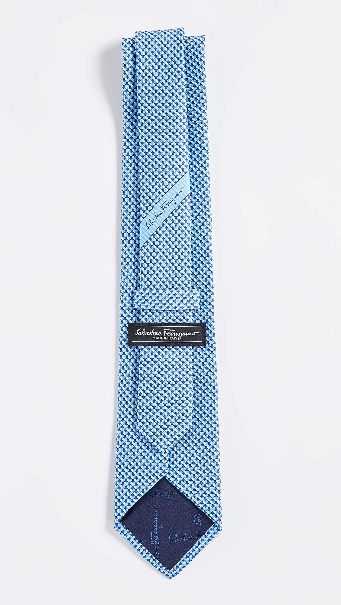 Salvatore Ferragamo Men's Heart Tie, Blue, One Size by Salvatore Ferragamo (Image #4)