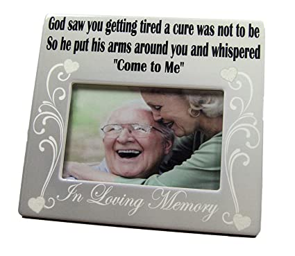 Amazoncom Banberry Designs Memorial Frame In Loving Memory