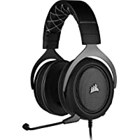 Corsair HS60 PRO Surround Cuffie Gaming con Microfono, Audio 7.1 Surround, Padiglioni Memory Foam, Cancellazione del Rumore Microfono con PC, PS4, Xbox One
