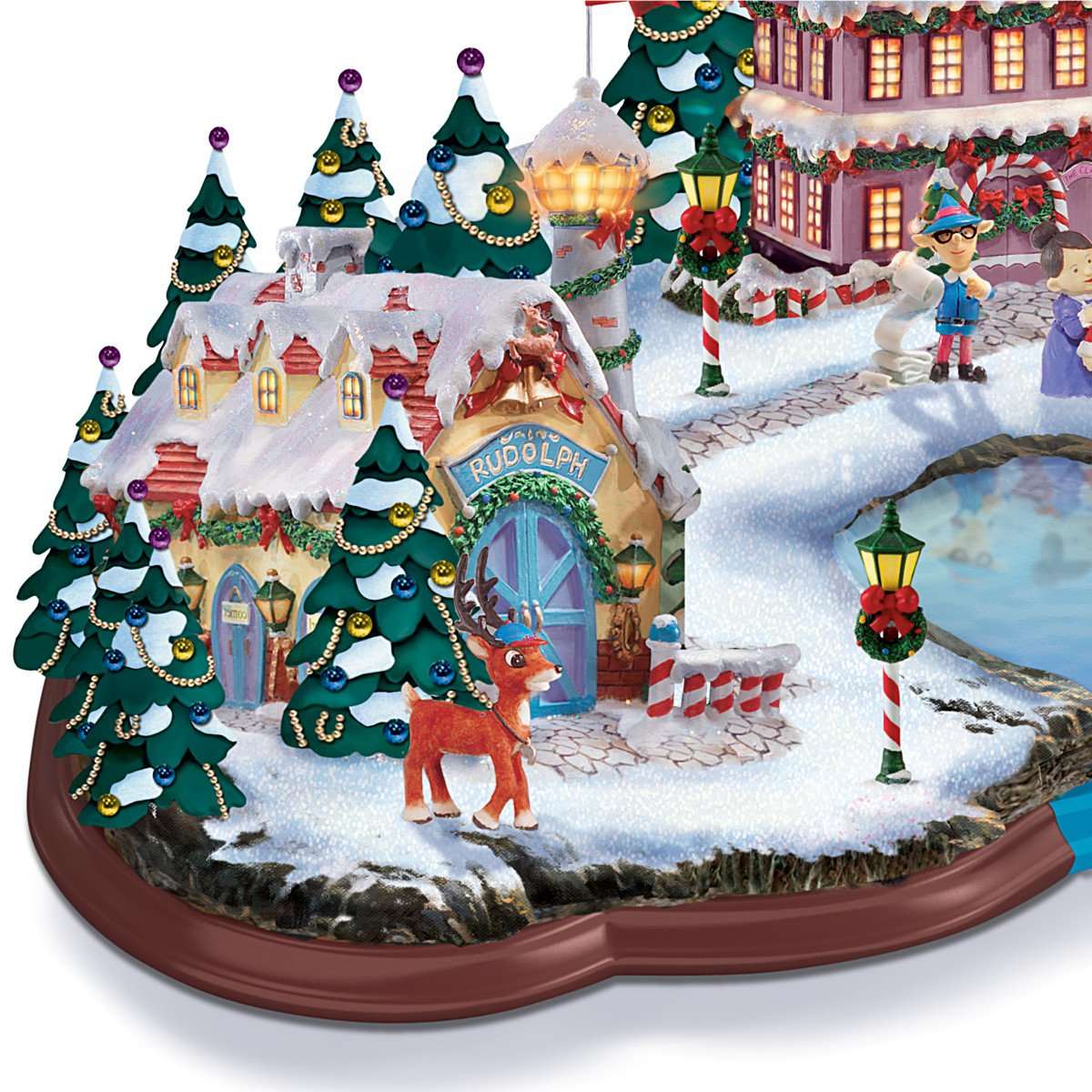 Amazon.com: Rudolph the Red Nosed Reindeer Light Up Village ...