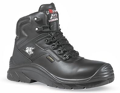 d20f23b5cc6 U-POWER Drop Gore-Tex Metal Free Black Grain Leather Mens Safety Toecap  Boots