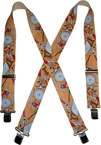 SUSPENDERS MEN 2 INCHES WIDE MADE in USA MANY COLORS