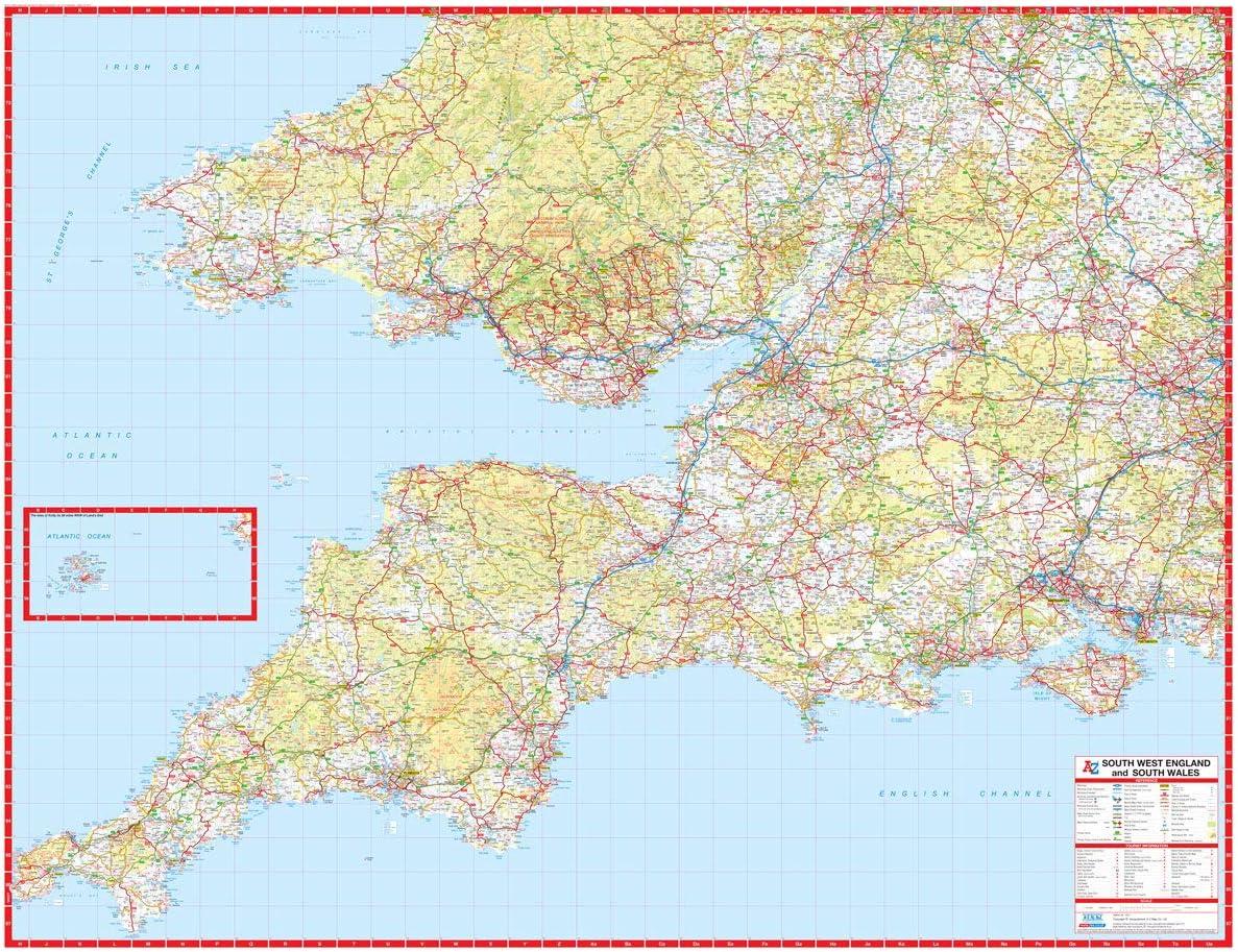 Cartina Stradale Inghilterra Del Sud.Cartina Stradale Dell Inghilterra Meridionale E Del Galles Meridionale Carta Da Parati Incapsulata Amazon It Cancelleria E Prodotti Per Ufficio