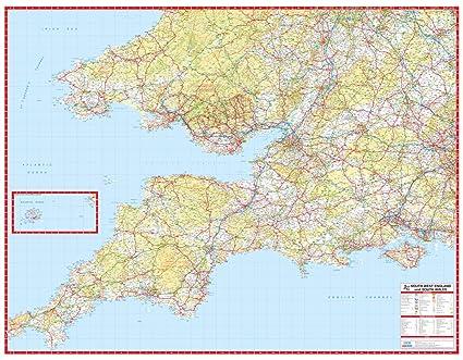 Cartina Cornovaglia.Cartina Stradale Dell Inghilterra Meridionale E Del Galles