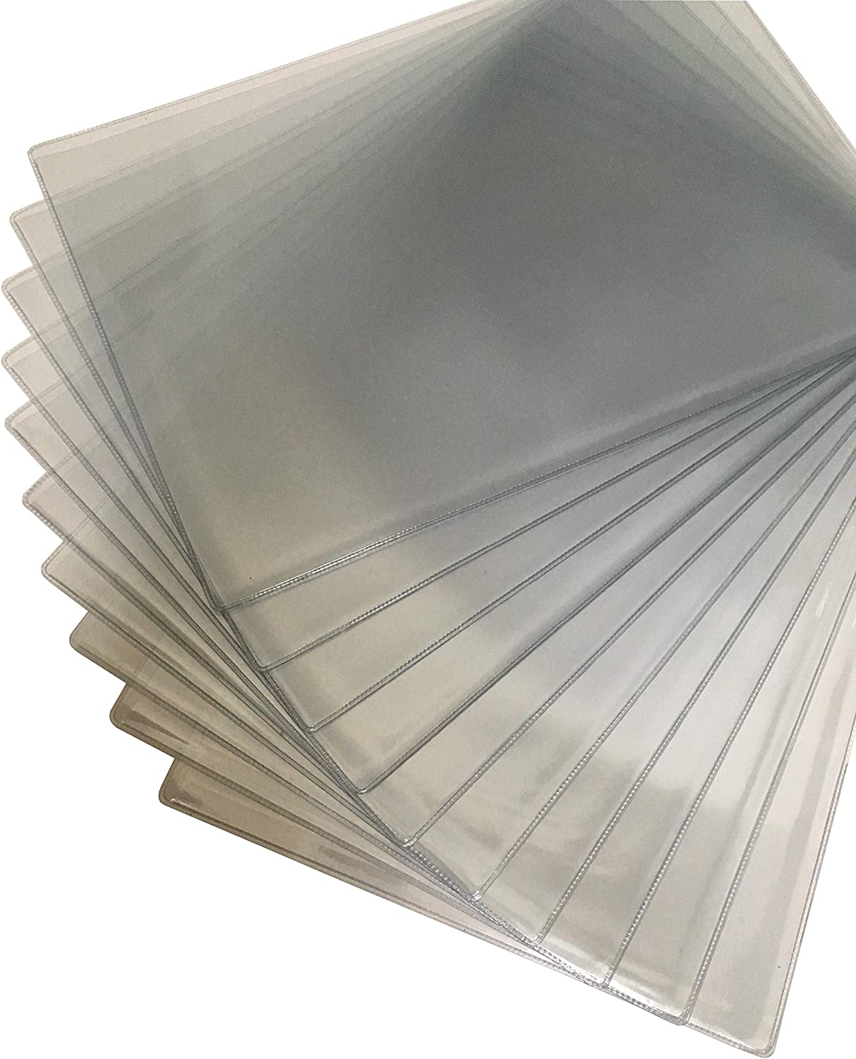 13.6 x 9.3 inches US Legal Size Plastic Jacket Sleeves Clear Transparent Poly Document Folder Project Pockets File Folder Paper Holder Organizer Thick F4 C-Type Pack of 10