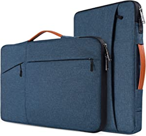 "17.3 inch Laptop Briefcase Bag for HP Pavilion 17.3 Inch Laptop, HP Envy 17T, HP PROBOOK 17, Dell G7 17.3/Inspiron 17, 17.3"" Lightweight Water Resistant Laptop Protective Sleeve Case, Navy Blue"