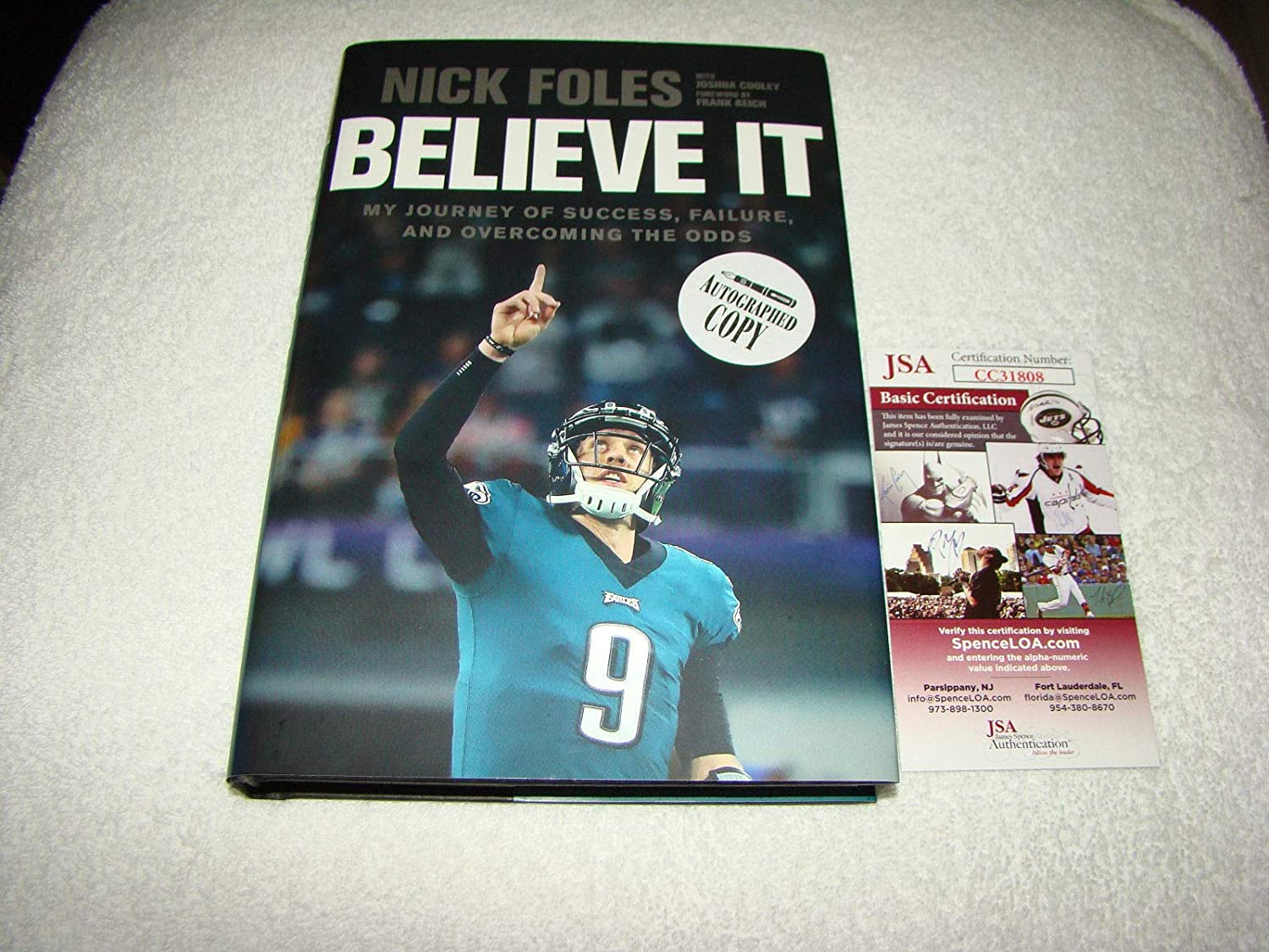d373f416810 Autographs-Original Nick Foles Signed Book Believe It BAS Beckett COA Philadelphia  Eagles SB LII MVP