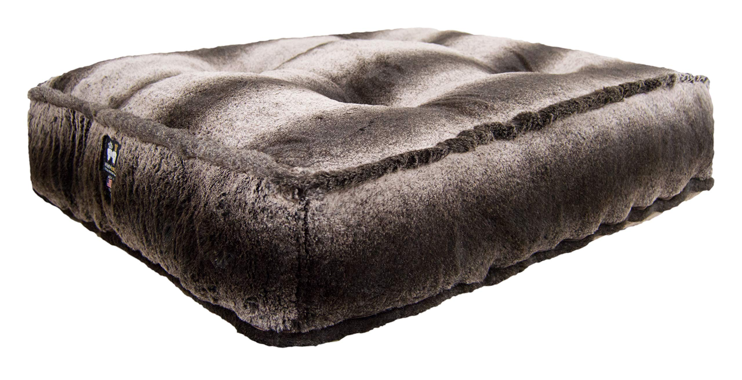Bessie and Barnie Frosted Glacier Extra Plush Faux Fur Luxury Sicilian Rectangle Pet/Dog Bed (Multiple Sizes)