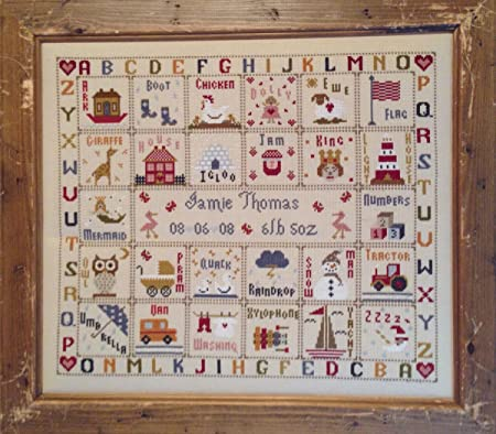 Historical Sampler Co Kit Pour Point De Croix Motif Abecedaire Illustre Amazon Fr Cuisine Maison