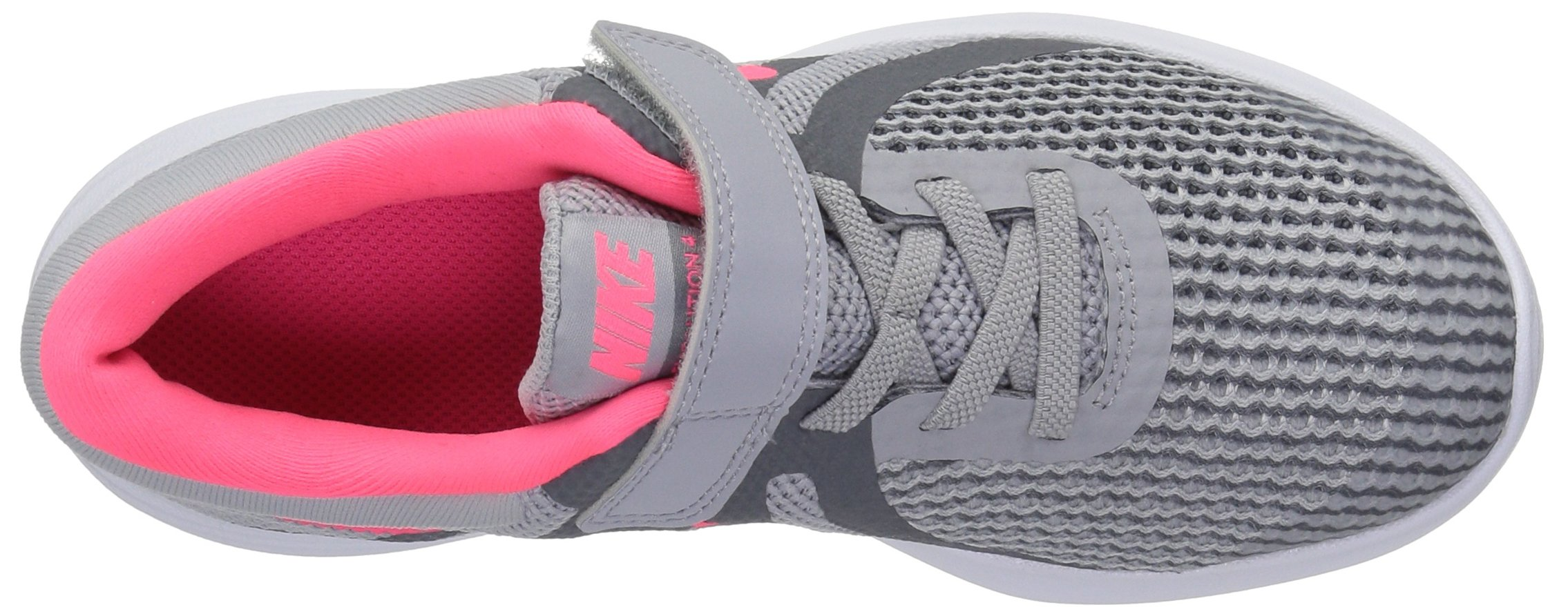 Nike Girls' Revolution 4 (PSV) Running Shoe, Wolf Racer Pink-Cool Grey-White, 3Y Child US Little Kid by Nike (Image #7)