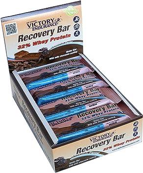 Victory Endurance Recovery Bar Sabor Chocolate. Barrita recuperadora con 32% de proteína (12x 35 g)