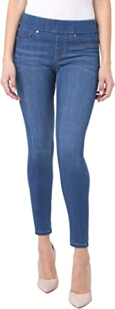 Liverpool Jeans Company Womens Sienna Pull-on Ankle in Silky Soft Denim Jeans - Blue