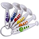 Curious Chef Kids Cookware - 6-Piece Measuring Spoon Set I Real Utensils, Dishwasher Safe, BPA-Free I Color-Coded Sizes…