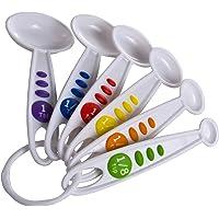 (1, White) - Curious Chef 6-Piece Measuring Spoon Set
