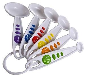 Curious Chef TCC50039 6-Piece Measuring Spoon Set, One
