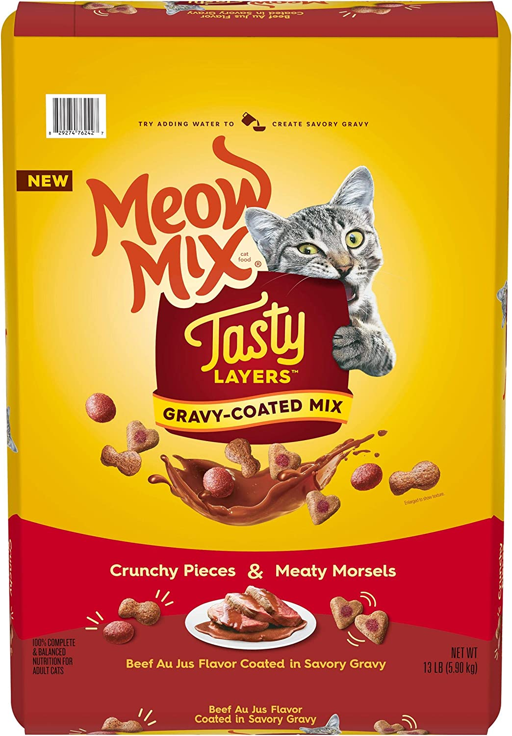 Meow Mix Tasty Layers Dry Cat Food, 13 Pounds