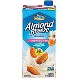 Almond Breeze Dairy Free Almondmilk, Unsweetened Vanilla, 32 FL OZ (Pack of 12)