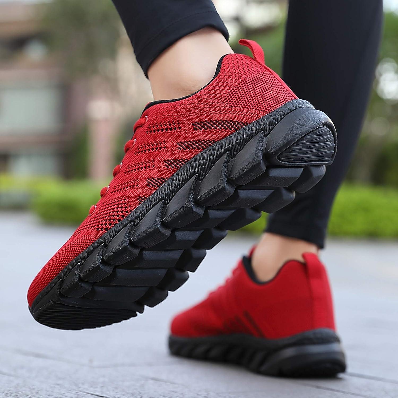 ZPAWDH Zapatillas Deportivas de Mujer Hombre Running Zapatos Ligeras Calzado Aire Libre Sneakers