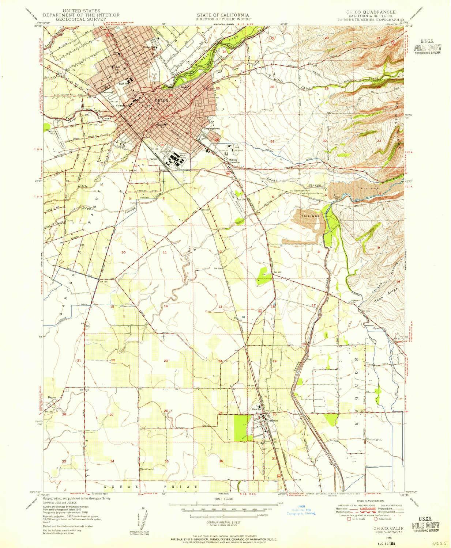 Amazon.com : YellowMaps Chico CA topo map, 1:24000 Scale ... on