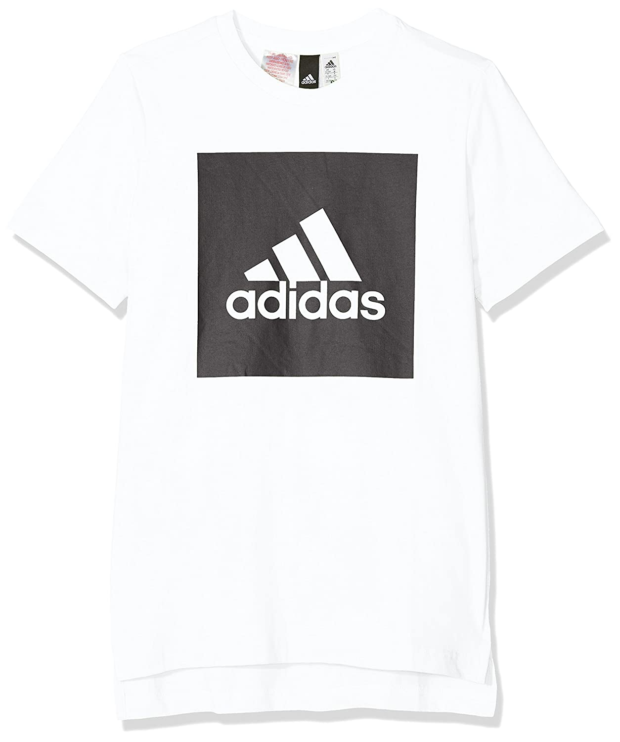 adidas Boys' Logo Front to Back T-Shirt ADIEY|#adidas