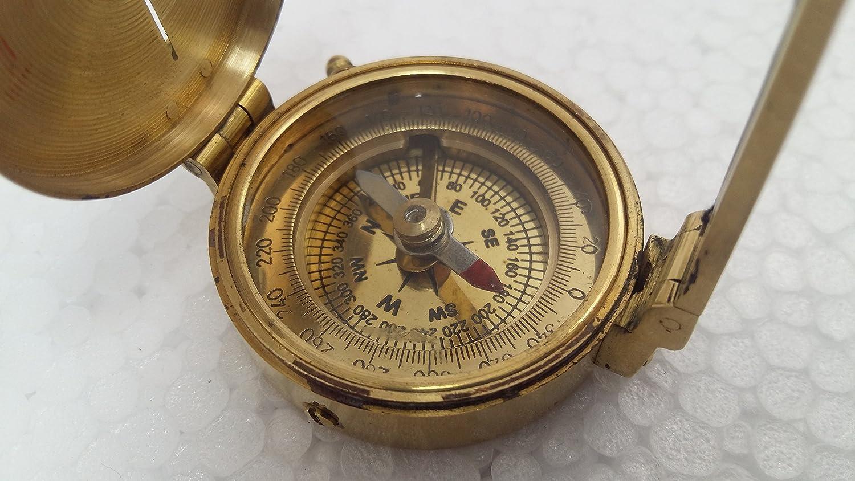 Max Nautical MartアンティークコンパスSurveying真鍮Brunton Compass地質ギフトTransitコンパス B07CZCPTV6
