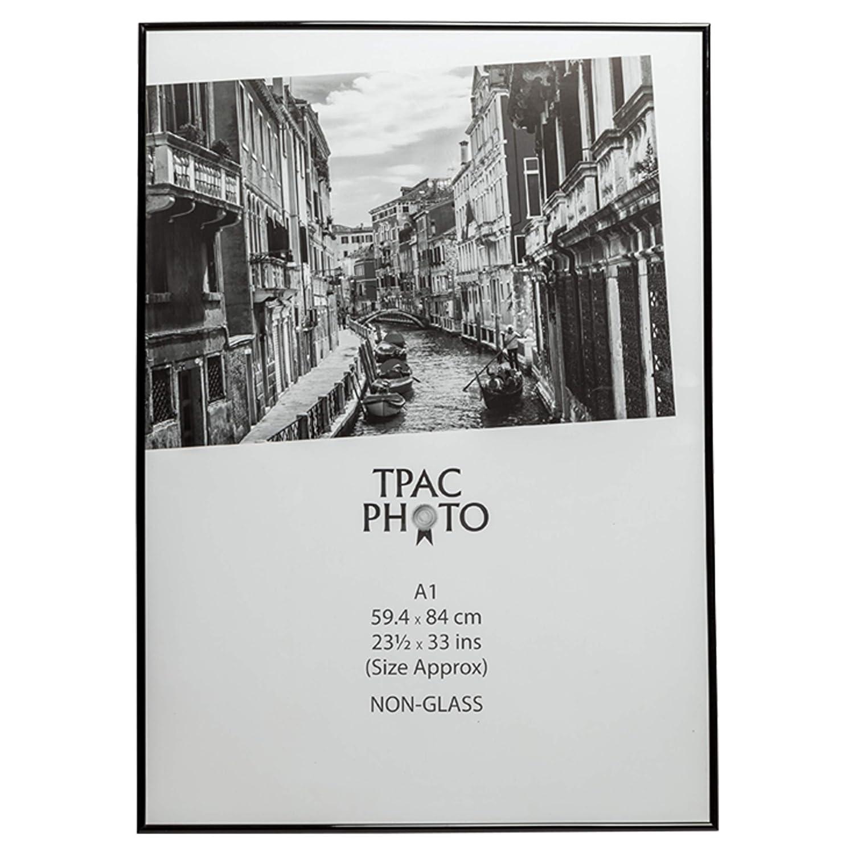 The Photo Album Company A1marbl A159x 84cm non arrière en verre Loader certificat Affiche de photo Tableau Cadre d'écran–Noir Hampton Frames Ltd