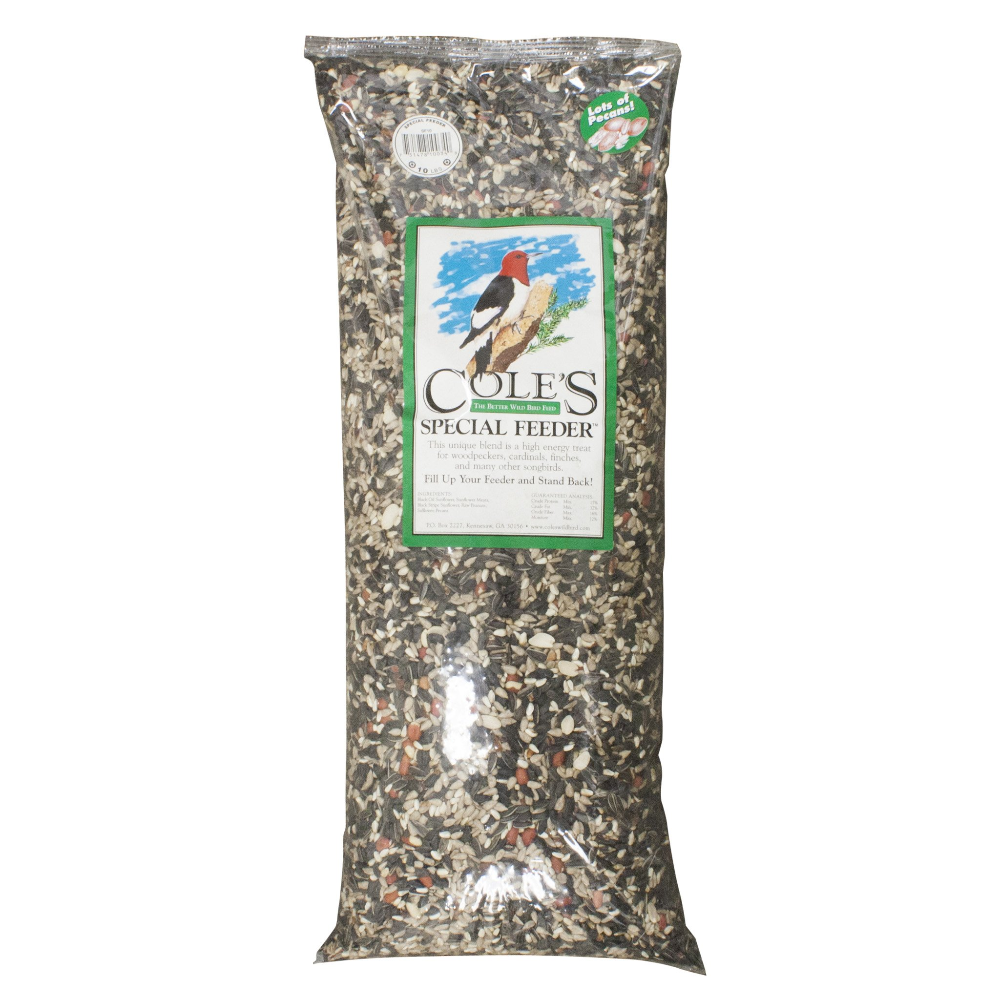 Cole'S Special Feeder Bird Seed Black Oil Sunflower,Pecans,Safflower,Stripe Sunflower,Sunflower Meat (4 bags) by COLES WILD BIRD PRODUCTS INC