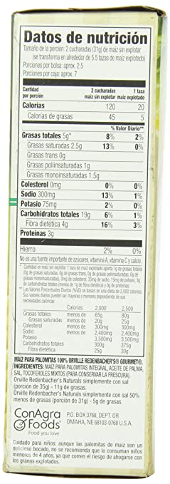 Amazon.com: Orville Redenbachers Natural Simply Salted 3 pk Microwave Popcorn 8.6 oz