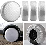 Kohree Tire Covers for RV Wheel Covers Motorhome Tires Set of 4, Waterproof UV Sun Tire Protector Fits for 27 to 29…