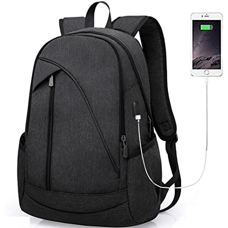 Business Laptop Backpack Bags with USB Charging Port Water Resistant  Polyester School Bookbag for College Travel Backpack for 15 6-Inch Laptop  and