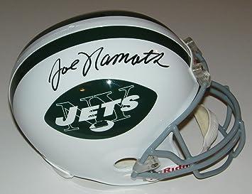Amazon.com  Joe Namath Signed Autographed Auto New York Jets Full Size  Helmet - JSA Witness  Sports Collectibles b2995aa8c