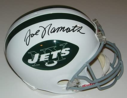 5da7ae8801a Joe Namath Signed Autographed Auto New York Jets Full Size Helmet - JSA  Witness