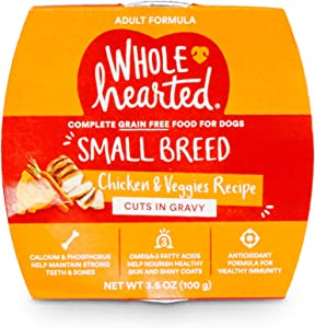 PETCO Brand - WholeHearted Grain-Free Chicken & Veggies Cuts in Gravy Wet Dog Food, 3.5 oz., Case of 8, 8 X 3.5 OZ