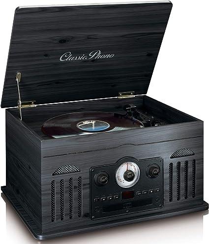 Tocadiscos LENCO TCD-2600BK Color Negro PC Encoding, Radio, Laser ...