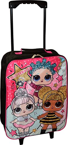 L.O.L Surprise Girl s 15 Collapsible Wheeled Pilot Case – Rolling Luggage