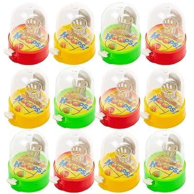 24 Juegos de Lanzar Baloncesto con el dedo de Escritorio - Un entretenimiento familiar portГЎtil y que reduce el estrГ©s, ideal para los juguetes de fiesta para niГ±os.: Oficina y papelerГa