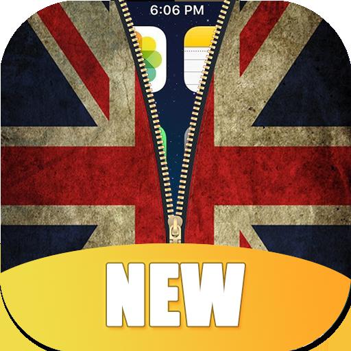 UK Flag Zipper Lock Screen HD - Zipper Von Uk
