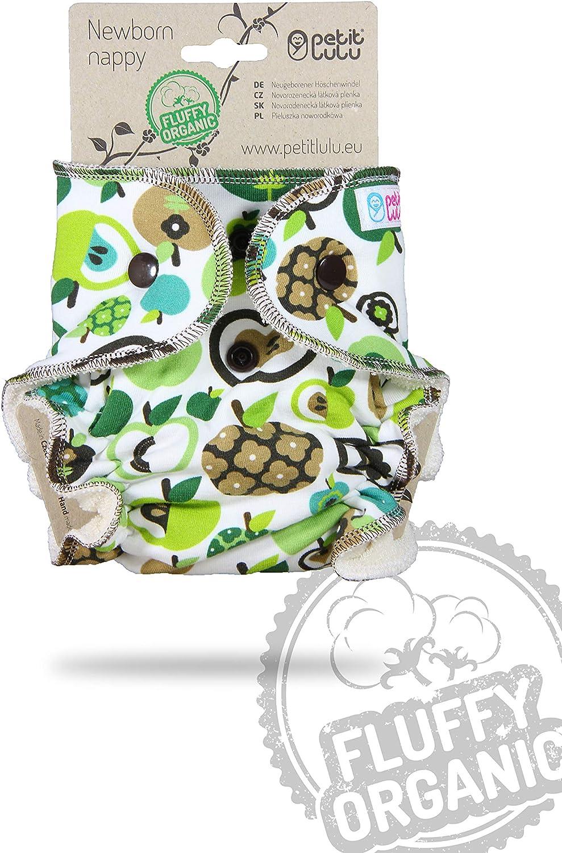 Bio moelleux Petit Lulu Couche de nouveau-n/é ajust/ée en bambou avec boutons-pression Fabriqu/é en Europe R/éutilisable et lavable