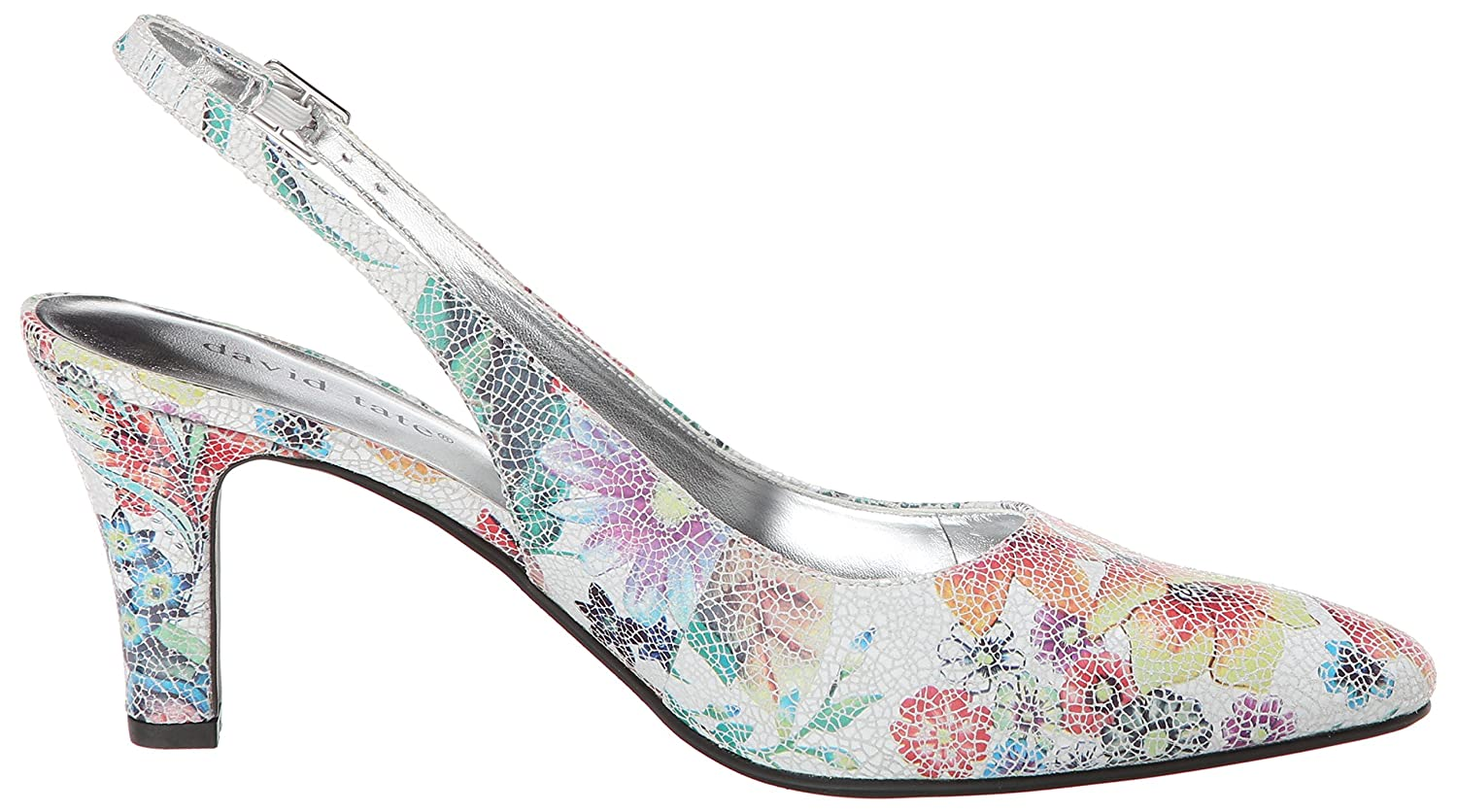 David Tate Women's Lace Floral Shoe B00M4Q71BY 9 XW US|Leather Floral Lace Print e23164